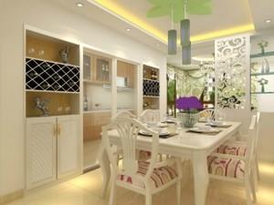 白色镂空隔断式酒柜设计
