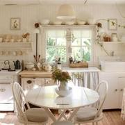 90平米欧式白色小厨房