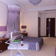中式典雅型50平米大卧室设计