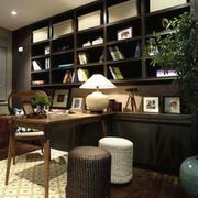 新中式书架整体设计