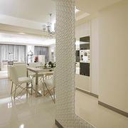 白色餐厅瓷砖设计