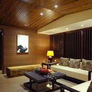 日式客厅精装效果图