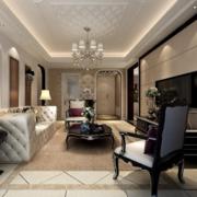客厅白色典雅高贵型沙发设计