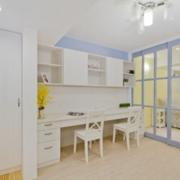 白色韩式简约小书房设计