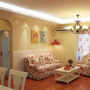 韩式浪漫型粉色客厅沙发