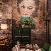 火锅店油画背景墙