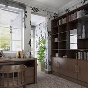 中式大户型书房装修设计