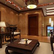 中式客厅矮茶几效果图