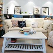 地中海白色客厅沙发