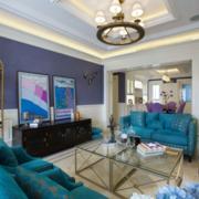 欧式大户型地中海客厅沙发设计