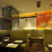 火锅店黄色卡座沙发设计