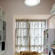 白色小户型简约式书房