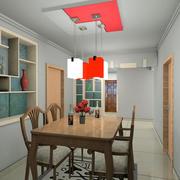 现代简约型餐厅红色吊灯设计