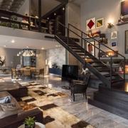 欧式踏步式楼梯设计