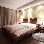 卧室裸色系窗帘设计