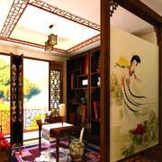 书房隔断中国书画设计