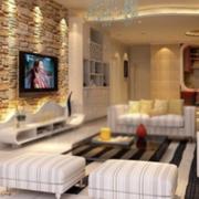 欧式大户型典雅型客厅装修效果图