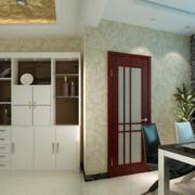 朴素淡雅式酒柜设计