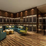 欧式大户型客厅酒柜设计