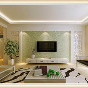 欧式简约绿色电视背景墙设计