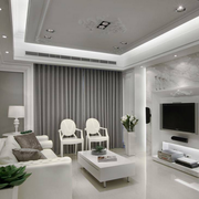 纯情白色客厅装修图例