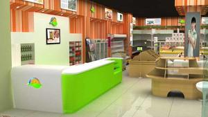 社区30平小型水果店装修设计效果图