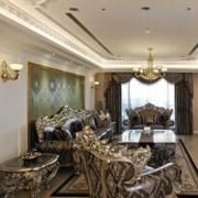 欧式复古典雅型客厅设计