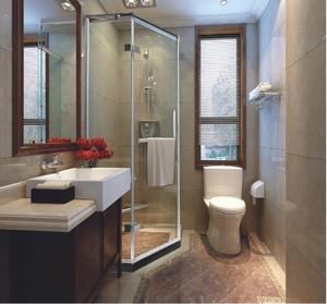 单身公寓90平米卫生间淋浴房装修效果图