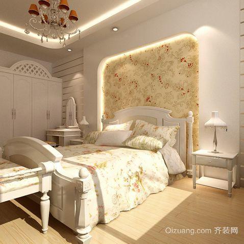 田园卧室壁纸装修效果图