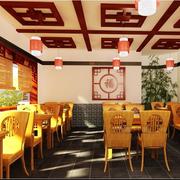 中式靓丽型餐桌设计
