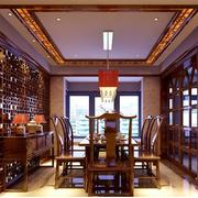 中式传统型餐桌设计