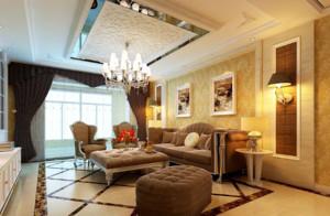 现代简欧客厅装修效果图