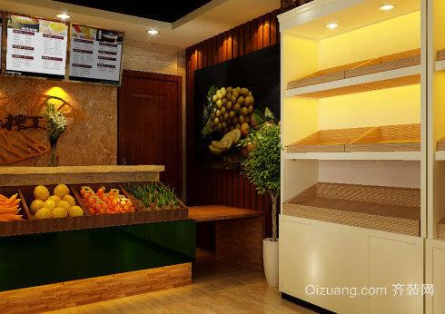 70平水果店内部装修与摆设图