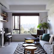 简欧棕色客厅地毯设计