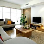 简欧清新靓丽型客厅设计