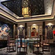 中式豪华型客厅设计
