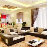 大户型淡雅色客厅