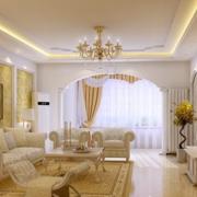 淡雅高贵型欧式客厅设计