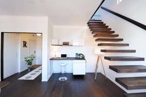 北欧顶楼小公寓交换空间效果图