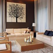 中式原木系列客厅设计