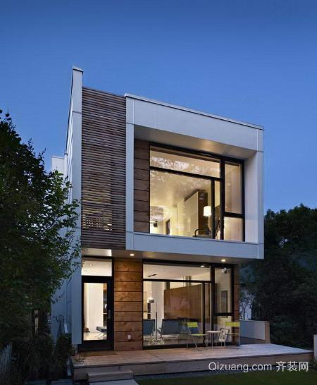 现代简约农村四室两厅小别墅装修效果图