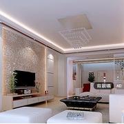 金色电视墙客厅效果图
