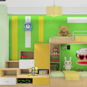 果绿色儿童房