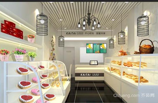 现代简约小型蛋糕店装修图片效果图