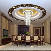 中式豪华型客厅吊顶设计