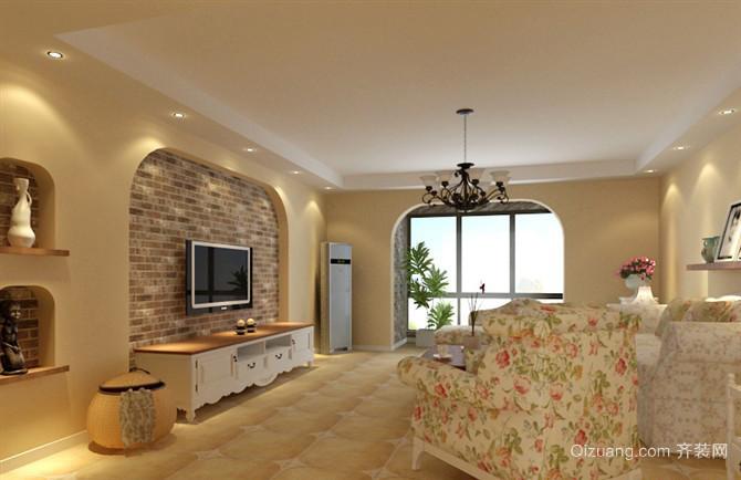 韩式田园风格客厅主卧装修效果图