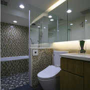 简约马赛克卫生间设计