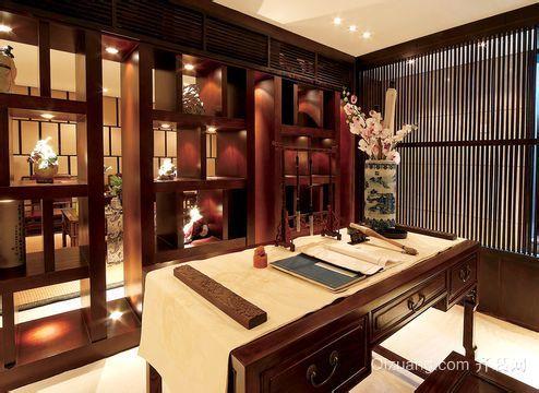 中式简约20平米小书房装修效果图