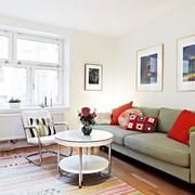 小户型简约欧式客厅样板间设计