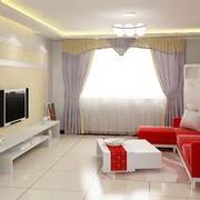 精致唯美客厅红色沙发